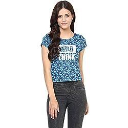 Candies by Pantaloons Women's Cotton T-Shirt (205000005542453_Blue_XL)