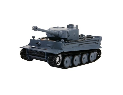 HONGLONG German Tiger 1:16 Scale 6-Channel Radio Control Battle Tank (Silver)