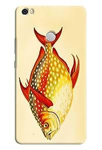 Omnam Fat Fish Lover Designed Back Cover Case For Xiaomi Mi Max