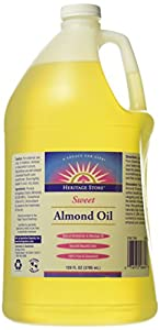Heritage Store Almond Oil, Sweet with Vitamin E, 128 Ounce