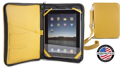 NewerTech iFolio - Premium Yellow Leather Case-Holder/Folio for iPad/iPad 2