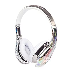 Monster Diamond Tears on-ear headphones with remote and mic crystal