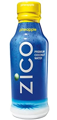 ZICO Pure Premium Coconut Water, Pineapple, 14 Ounce Bottles (Pack of 12)