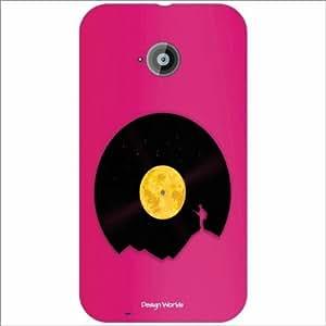 Design Worlds - Moto E (2nd Gen) 4G Designer Back Cover Case - Multicolor P...