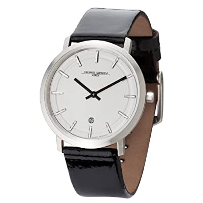 Jorg Gray JG2700-11 -Unisex Slim Watch, Swiss 2 Hand Mvt, Date Display, Leather Straps