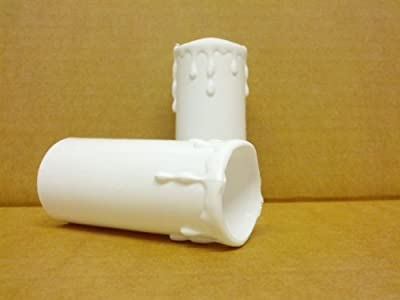 5 x White Plastic Candle Drips 70mmx32mm by Jegs
