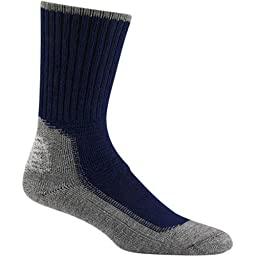 Wigwam Hiking/Outdoor Pro Sock, Large, Navy(Women\'s 10-13 shoe size and men 9-12)
