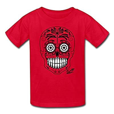 Spreadshirt Kids' Kendall Schmidt Skull Design MP T-Shirt, red, L