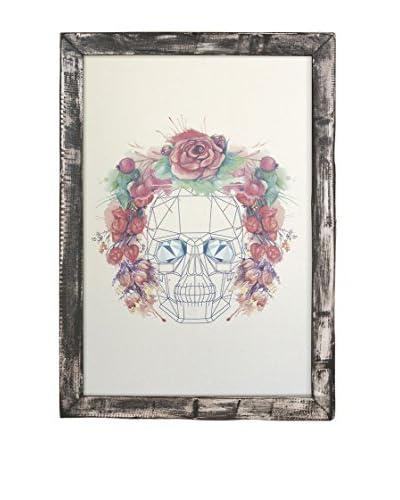 Really Nice Things Lienzo Decoración Vertical Skull Flowers