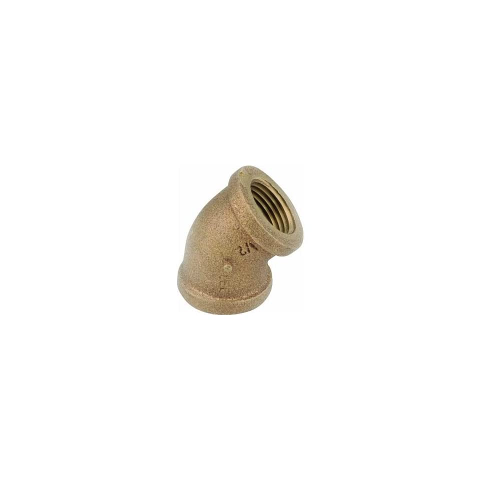 Anderson Metals Corp Inc 38107 12 Red Brass 45 Elbow