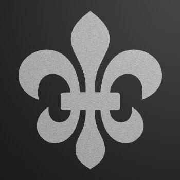 Fleur De lis logo symbol... Silver-Matte (10 X 9.1 inch) ZK6ZK