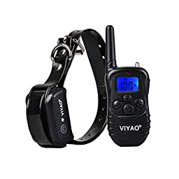 JINCHAO Rechargeable and Waterproof 330 Yards Remote Dog Training Shock Collar with Beep / Vibration / Shock Electronic E-Collar
