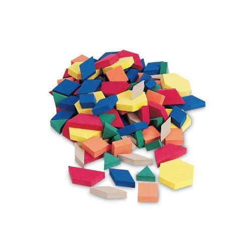 School Smart Jumbo Foam Pattern Blocks - 3 Inch - Set Of 250 - Assorted Colors front-906213