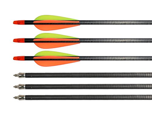 Huntingdoor-12-Pack-Outdoor-Carbon-Fiber-Arrows-Archery-31-Inch-with-Changeable-Tips-for-Compound-Bow-or-Recurve-Bow