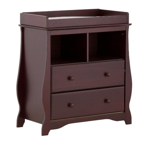 Stork Craft 03580-104 Carrara 2 Drawer Change Table (Cherry)