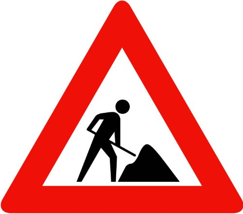 Street & Traffic Sign Wall Decals - Men At Work Sign - 12 Inch Removable Graphic