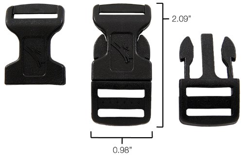 25 - 3/4 Inch Economy Contoured Side Release Plastic Buckles Closeout