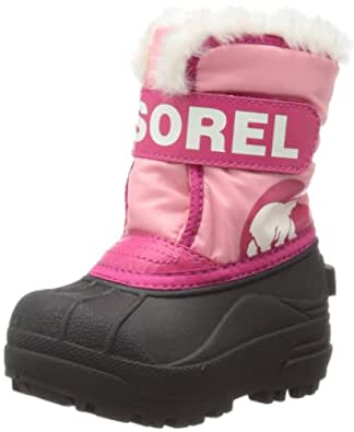 Sorel Snow Commander Winter Boot,Coral Pink/Bright Rose,4 M US Toddler