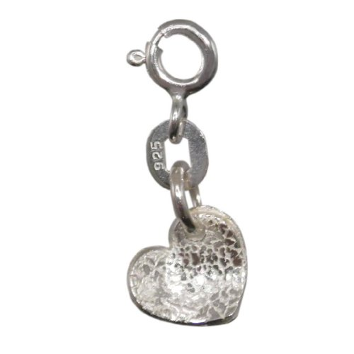 Handmade 925 Sterling Silver Heart Charm -Adults / Children - FREE Delivery in UK Gift Wrapped Gifts