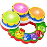 Sunshine - Educational Drum Musical Handheld Toy For Kids, Lights And Music + Poems + Color And Shape Quiz + Melodies...