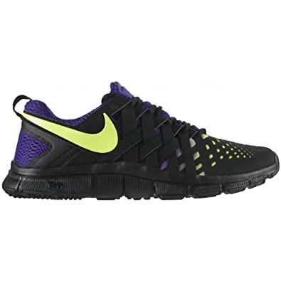 NIKE FREE TRAINER 5.0 NRG - TRAINING RUNNING SHOES SNEAKERS - 579813 (8.5, BLACK/VOLT-ELECTRO PURPLE)