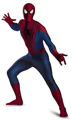 Disguise Men's Marvel The Amazing Movie 2 Spider-Man Bodysuit Costume, Blue/Red/Black, XX-Large/50-52