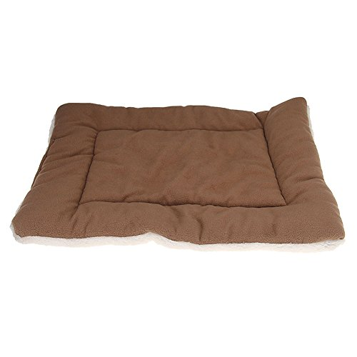 Newest Brown Pet Pad Mat Dog Crate Cage Kennel Soft Cozy Cat Bed L