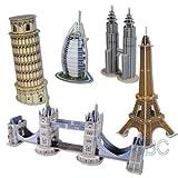 【3Dパズル】 ミニ有名建築パズル 5IN1 セット 1