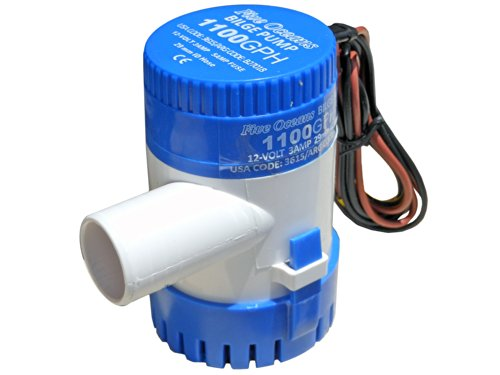 Marine Electric Bilge Pump 12v 1100gph for Boat, Caravan, Rv - Five Oceans
