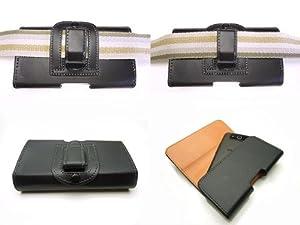 iPhone5 au&softbank ベルトクリップレザーケース 液晶フィルム&液晶クリーナー付属
