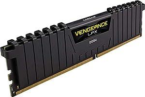 Corsair Vengeance LPX 16GB (2x8GB) DDR4 DRAM 3200MHz (PC4-25600) C16 Memory Kit - Black (CMK16GX4M2B3200C16)
