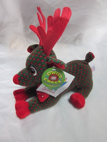 """Sugar Loaf Stuffed Green Eco Friendly XMAS REINDEER 10"""" Plush 2009"""