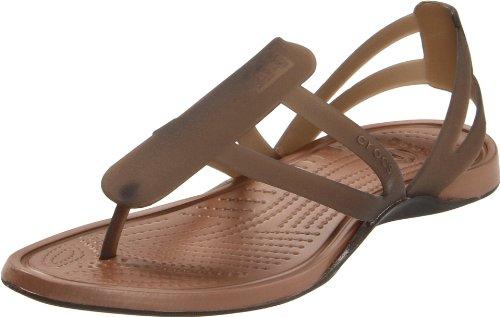 c4163e0a8ebdb2 Crocs Women s Adrina Strappy Sandal Espresso Bronze Open Toe Flats  11206-25M-440 5 UK