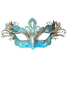 Laser Cut Sky Blue Metal Mask from KBW GLOBAL CORP