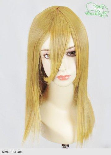 スキップウィッグ 魅せる シャープ 小顔に特化したコスプレアレンジウィッグ フェアリーミディ ダークゴールド
