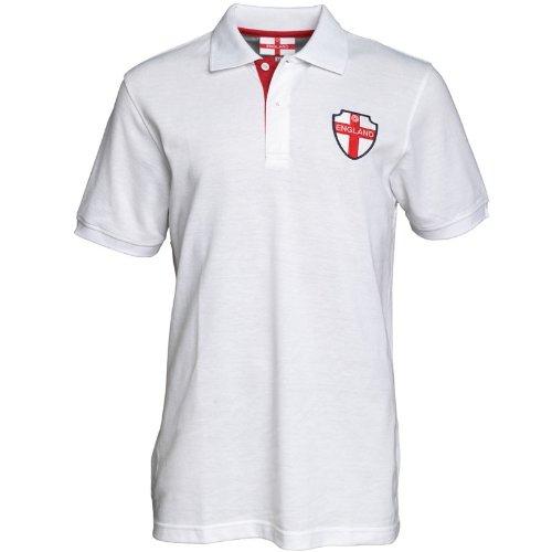 England Mens Polo White