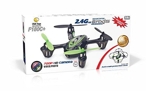 *LATEST MODEL* F180C + Mini RC Quadcopter Drone with 720p HD Camera