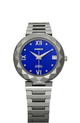 Jowissa Soletta Women's Automatic Watch with Blue Dial Analogue Display and Silver Tungsten Bracelet J1.168.M