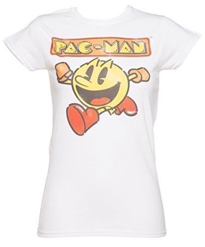 Womens Retro Faded Pac Man T Shirt - M to XL