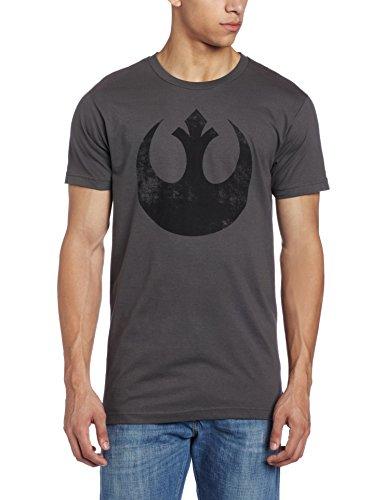 Star Wars Men's Old Rebel T-Shirt, Charcoal, Large