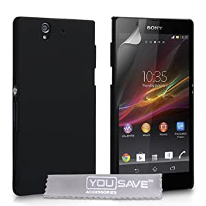 Custodia Sony Xperia Z Cover Sony Xperia Z Duro Rigida Ibrido Nero