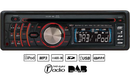 Beat 490 Car Stereo CD MP3 Player, DAB Radio, USB, Aux-In, SD MMC, iPod / iPhone Control