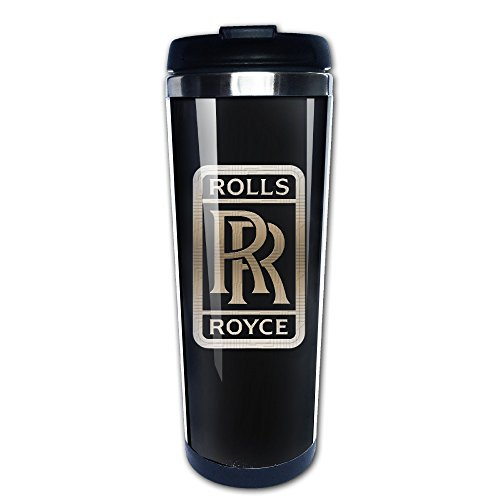 Rolls Royce Seek Logo Steel Travel Mug (Rolls Royce Mug compare prices)