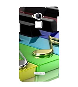 PrintVisa Colorful Music Piano Design 3D Hard Polycarbonate Designer Back Case Cover for Coolpad Note 3