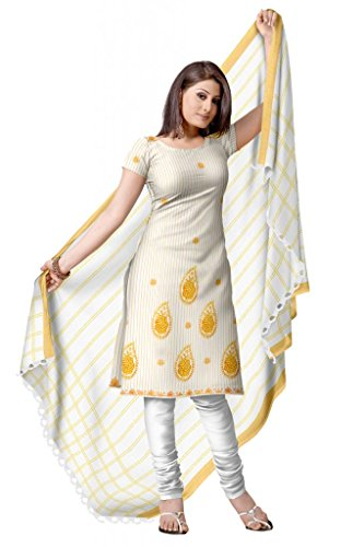 Traditional Kerala Cotton Zari Border Churidar Dress ...