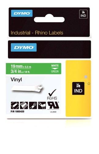 dymo-1805420-nastri-industriali-d1-19-mm-x-55-m-vinile-bianco-su-verde