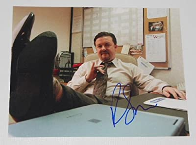 Ricky Gervais The Office Beautiful Signed Autographed 8x10 Glossy Photo Loa