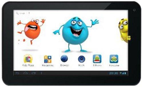 Odys Pedi Plus 17,8 cm (7 Zoll) Tablet-PC (Rockchip 1,2 GHz Dual Core, 1GB RAM, 8GB HDD, Android 4.2.x, Elternkontrolle) schwarz/weiß
