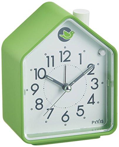 SEIKO CLOCK(セイコークロック) アラーム音切替(鳥の鳴き声)アナログ目覚まし時計(緑) NR434M