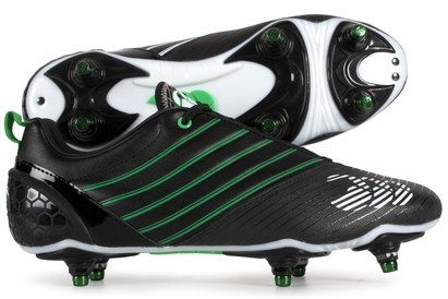 Speed Elite 6 Stud SG Rugby Boots Black/Classic Green